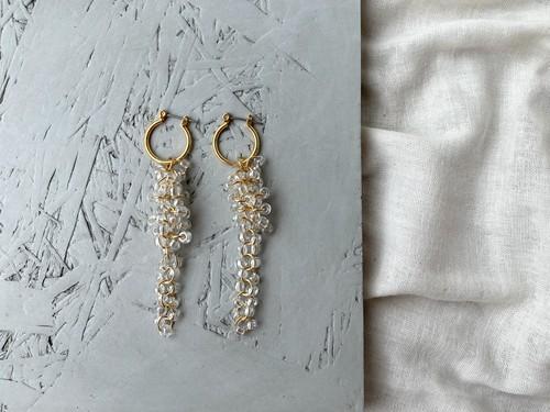 """chandelier pierce/earrings """"fall hoop"""""""