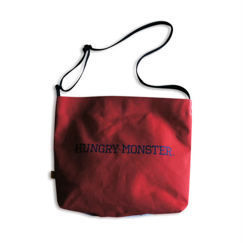 Canvas Shoulder Bag (L) [Red]