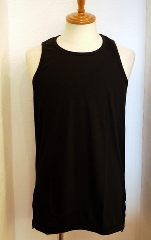 Long Length Tank Top(Flat) Black