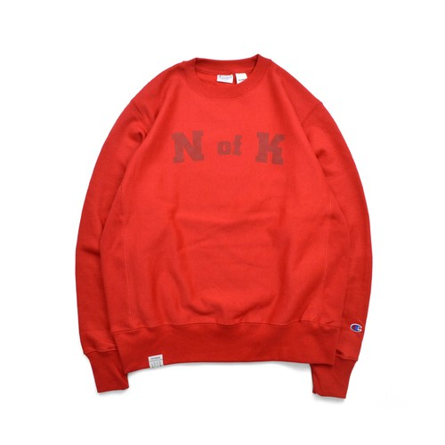 Means RW Crew Neck Sweat / RED
