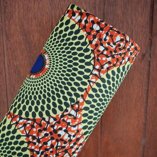 アフリカンワックスプリント(キテンゲ) water melon color