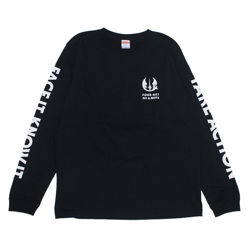 "FOUR GET ME A NOTS ""BE WITH YOU"" L/S black/white"