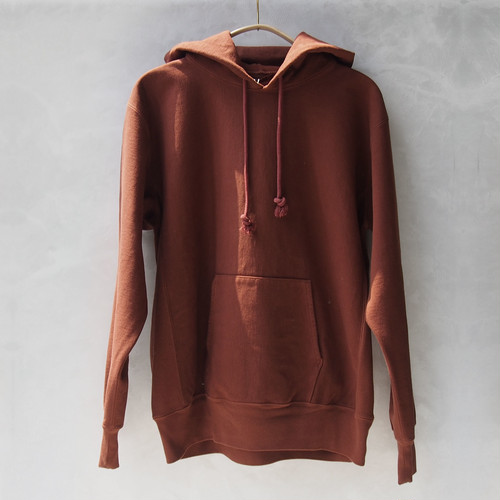 AURALEE SUPER MILLED SWEAT P/O PARKA RED BROWN