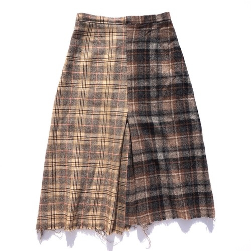 [UNION SKIRT] Check Wool LB/DB