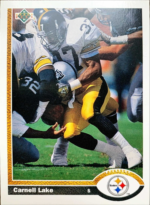 NFLカード 91UPPERDECK CARNELL LAKE #309 STEELERS