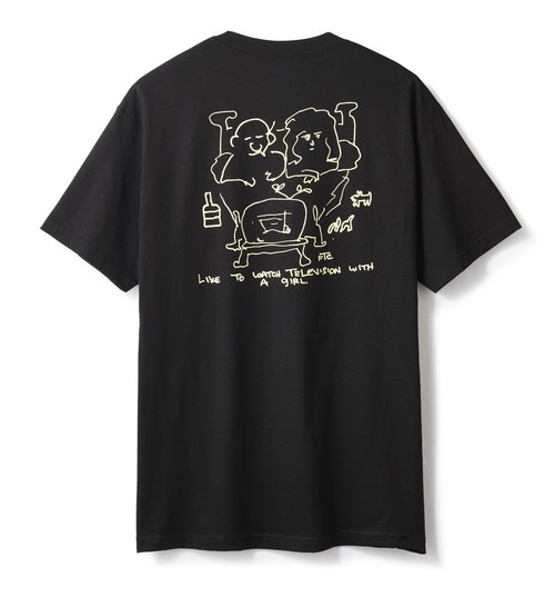 FTC(エフティーシー) / WITH A GIRL TEE -BLACK-