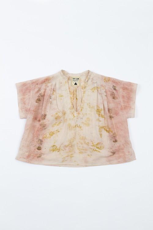 花びら染ethnicブラウス pink