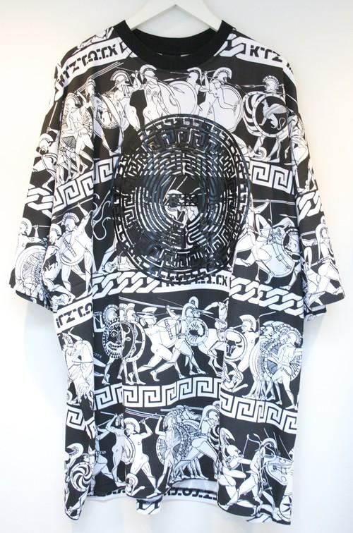 KTZ WAR PRINT T-SHIRT ウォー プリント Tシャツ / BLACK-WHITE
