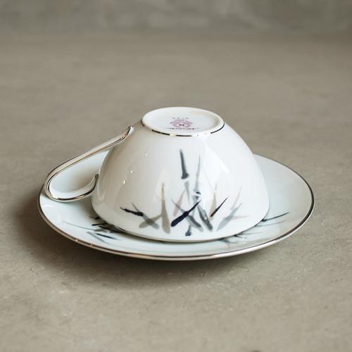 ノリタケ カップ&ソーサ 竹 / Noritake cup saucer plate Bamboo (Crica : 1950~1960)
