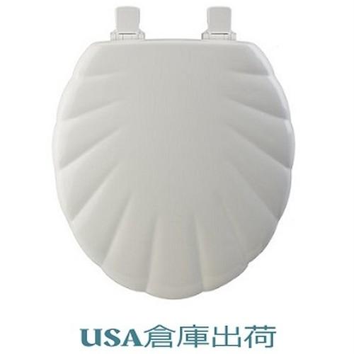 SHELL 貝殻デザイン木製便座 420mmサイズ
