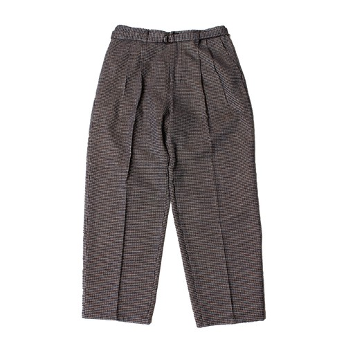 Belt Tuck Wide Pants Check  -black <LSD-AI3P1>
