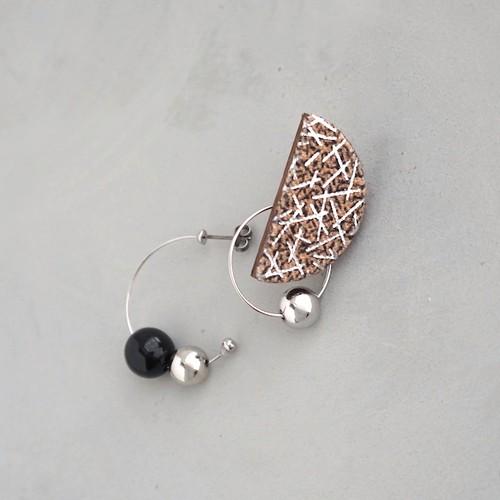 pierced earrings C-P26/earrings C-E26<silver>