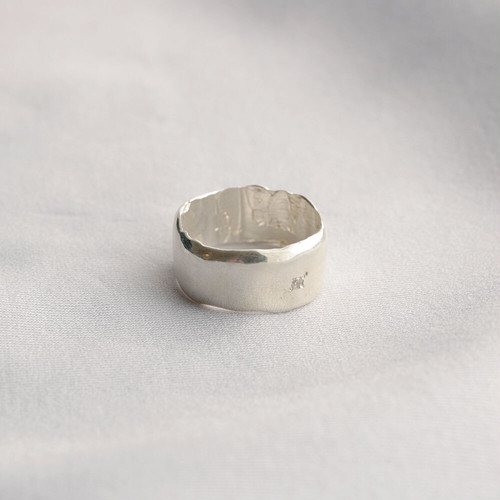 wave / wide ring (silver)