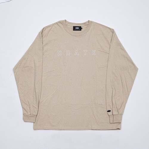 SIMPLE LOGO HOLLOW L/S Tee BEIGE