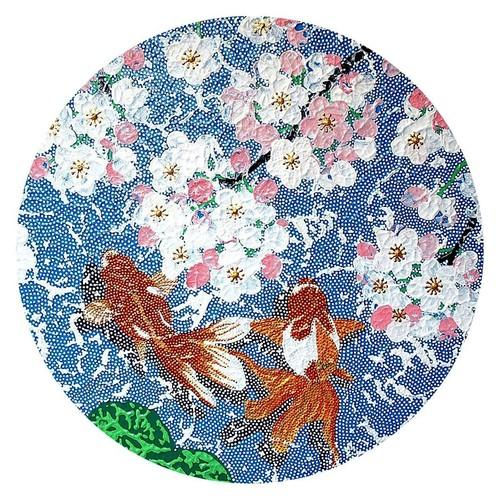 桜と金魚A