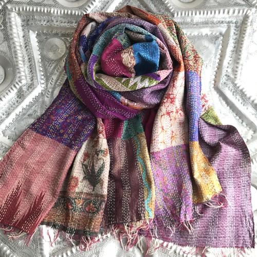 Kantha Silk Stole (Patchwork Type)