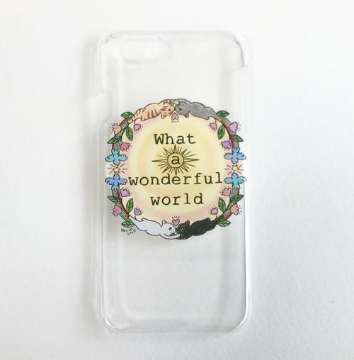 【受注】スマートフォンハードケース『Wonderful world 内側カラー』