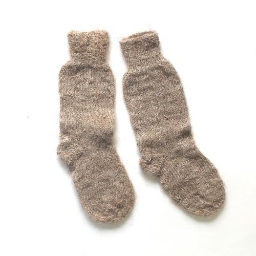 ペルー アルパカ手編みくつ下 キッズ