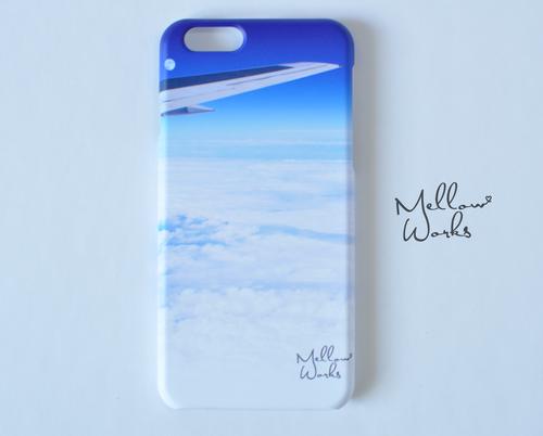 [受注制作] iPhone Android スマホケース 機内から見た雲海と月デザイン