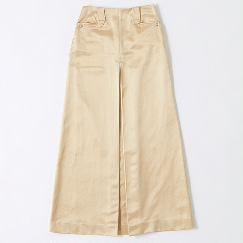 【FILL THE BILL】《WOMENS》SATIN WESTERN SKIRT - CHAMPAGNE GOLD