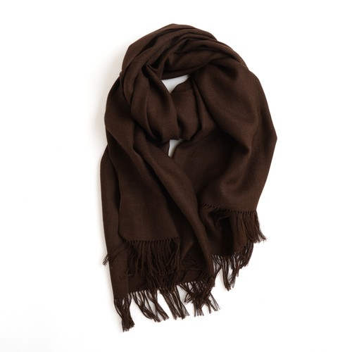 THE INOUE BROTHERS/Non Brushed Large Stole/Brown