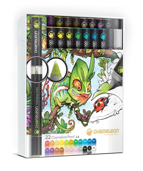 Chameleon Pen 22 Pen Delux Set (カメレオンペン 22本入りデラックスセット)