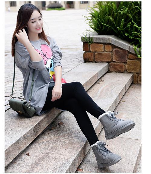 【韓流】女性雪のブーツ・冬の豪華なプラットフォーム女性靴新フロック毛皮女性のスエード足首ブーツ女性