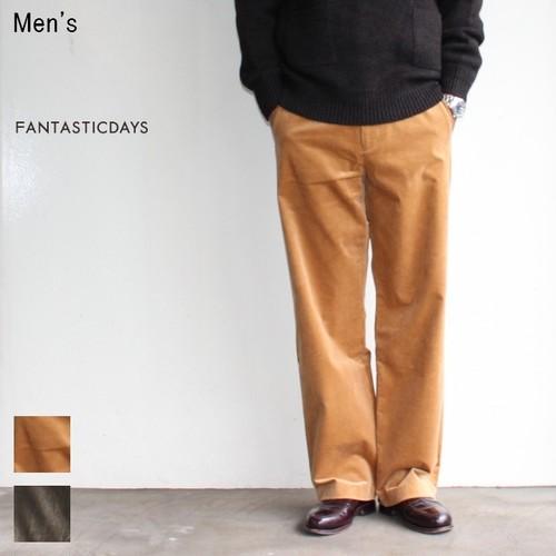 【ラスト1点】 FANTASTICDAYS コーデュロイワイドパンツ RUSTIC-M-63-02 (CAMEL)