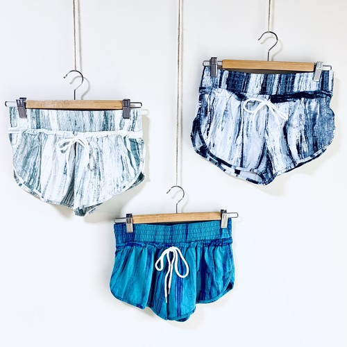 Tie Dye Stripe Cotton Short Pants
