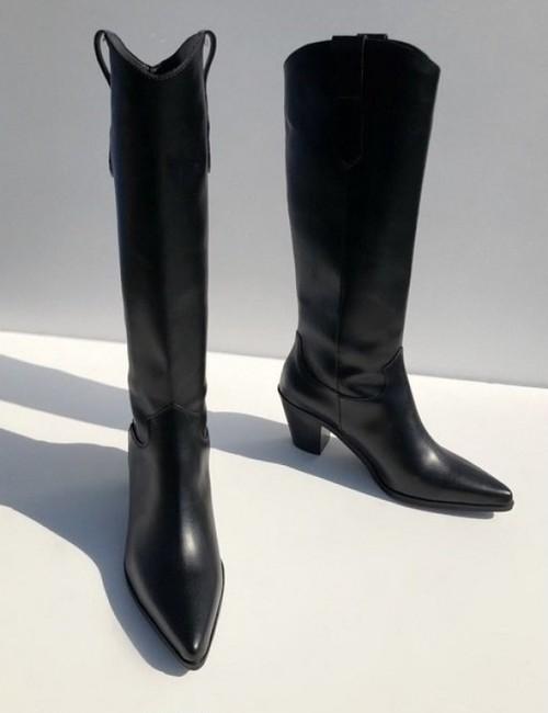 予約注文商品 トゥーエッジロングブーツ ブーツ 韓国ファッション