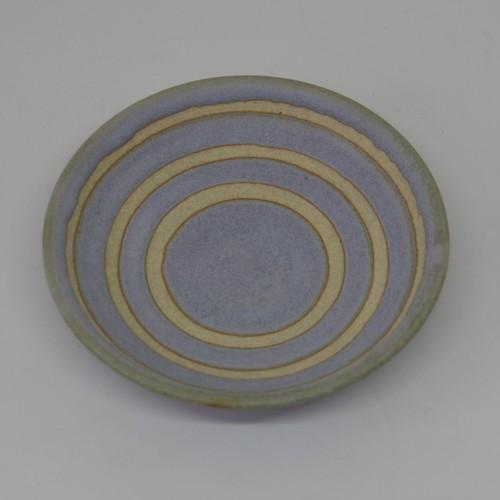 やちむん【空~KOO~】3.5寸皿 ブルーグレー