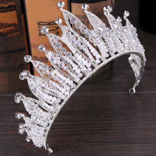 5529髪飾り ティアラ カチューシャ  ヘアアクセサリー ヘアバンド 結婚式ブライダルクラウ