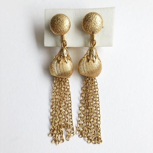 gold chain tassel earring[e-1001]