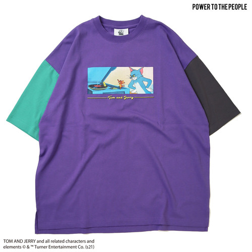 【Tom&Jerry】フロントプリントOVER Tシャツ NO1515026