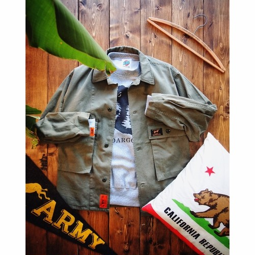 【DARGO】HBT Coverall Jacket (ARMY GREEN)