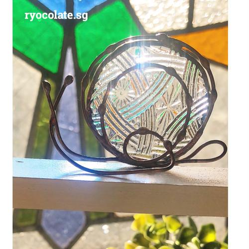 和柄っぽいクリアガラスのカタツムリさん♡インテリア