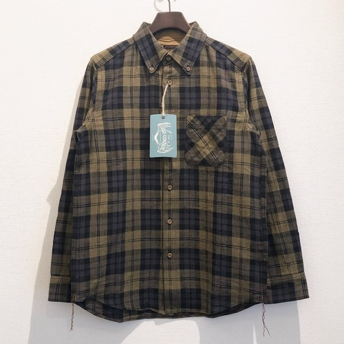 CHECK WORK SHIRTS (DARK YELLOW) / LOST CONTROL