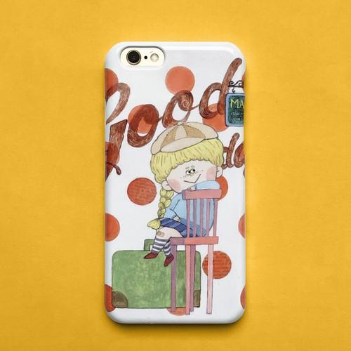 送料無料♪スマホケース スマホカバー/iPhone/Galaxy/Xperia/ほぼ全機種対応♪イラストが可愛い 【テーマ: 女の子 赤 ドット 旅行】