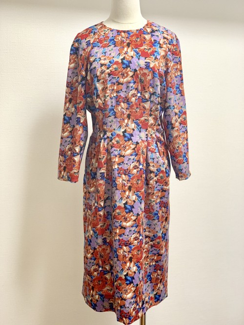 Vintage Cotton Linen Floral Dress