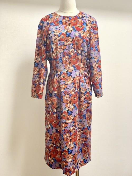 Vintage Cotton Linen Floral Dress