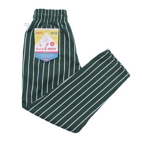 COOKMAN CHEF PANTS「STRIPE」/ DARK GREEN