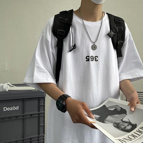 365プリントTシャツblueBL8209