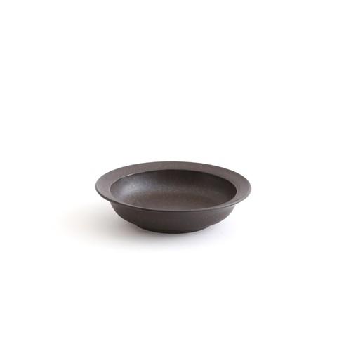 二川修/3寸深皿 茶