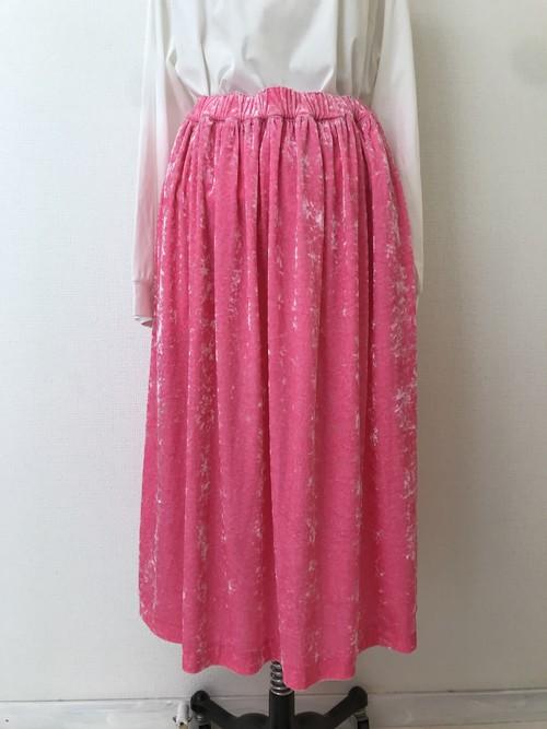 クラッシュベロアギャザースカート