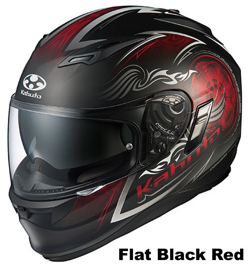 OGK KAMUI 2 BLAZE Flat black red