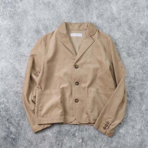 【SETTO】UNE JACKET (BEIGE) セット ジャケット コーデュロイ ウィメンズ レディース 日本製 MADE IN JAPAN