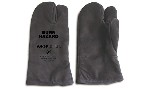 LEATHER CAMP GLOVES / blk