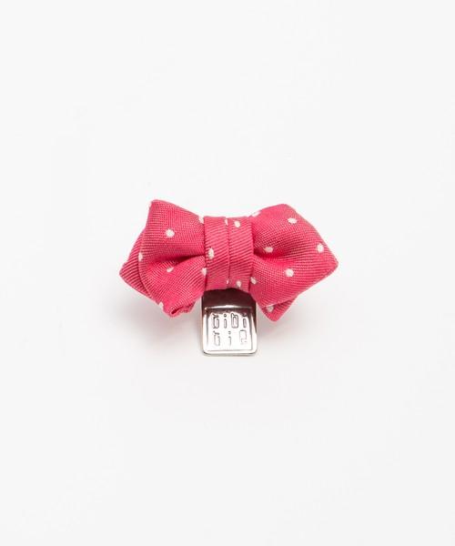 tibitie(チビタイ)ドットリボンモチーフ:ピンク