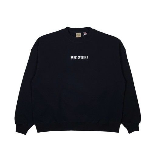 MFC STORE x Goodwear EMBROIDERY SIDE LOGO CREWNECK / BLACK