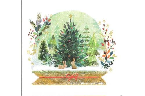 紙ナプキン クリスマスのうさぎ